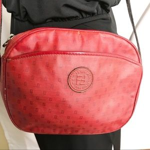 Vintage Fendi Crossbody Bag Red